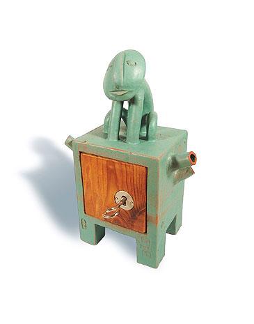 Fred Lange: kleiner Frosch, Keramik