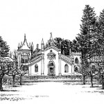 Wolf-Erik Widdel: Gotisches Haus in Wörlitz, Feder