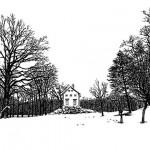 Wolf-Erik Widdel: Piemonteser Bauernhaus in Wörlitz, Feder