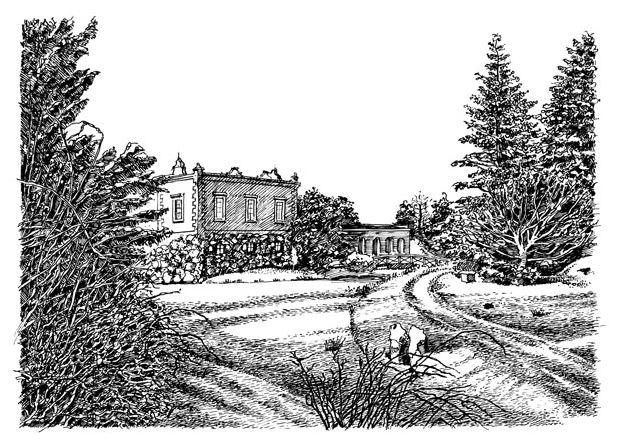 Wolf-Erik Widdel: Villa Hamilton auf der Insel Stein in Wörlitz, Feder