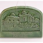 Wolf-Erik Widdel: Insel Stein, Relief Keramik glasiert