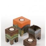 Wolf-Erik Widdel: Teelichtdosen, Keramik engobiert teilglasiert